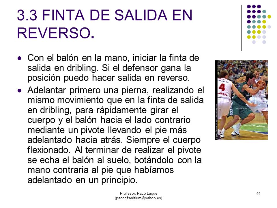 3.3 FINTA DE SALIDA EN REVERSO.