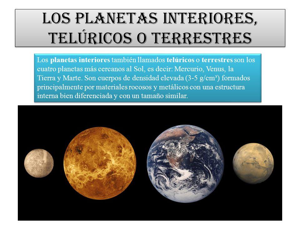 El cosmos y el universo ppt video online descargar - Caracteristicas de los planetas interiores ...