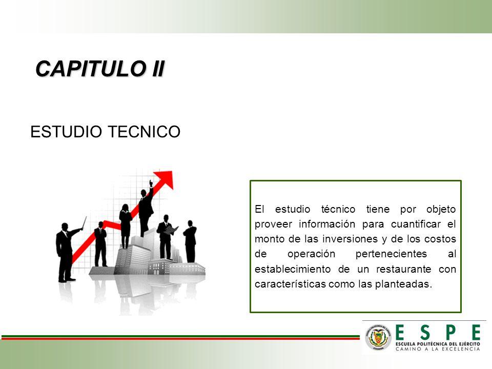 CAPITULO II ESTUDIO TECNICO