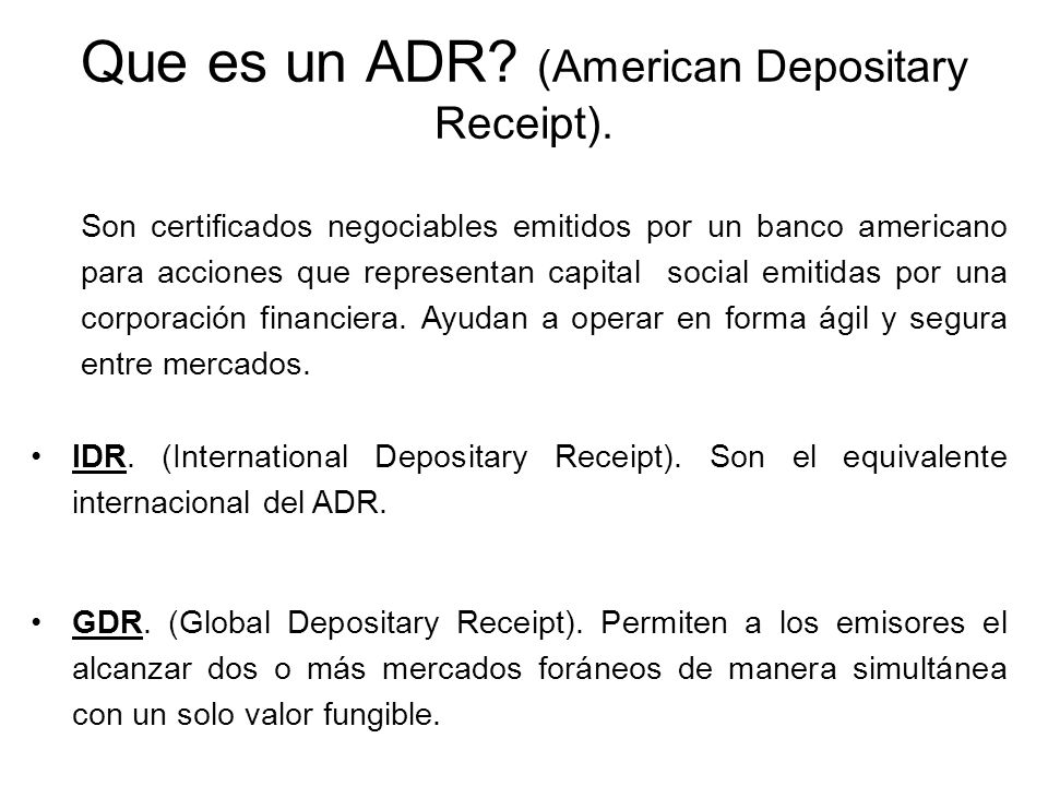 Global Depositary Receipt Global Depository Receipts Gdr