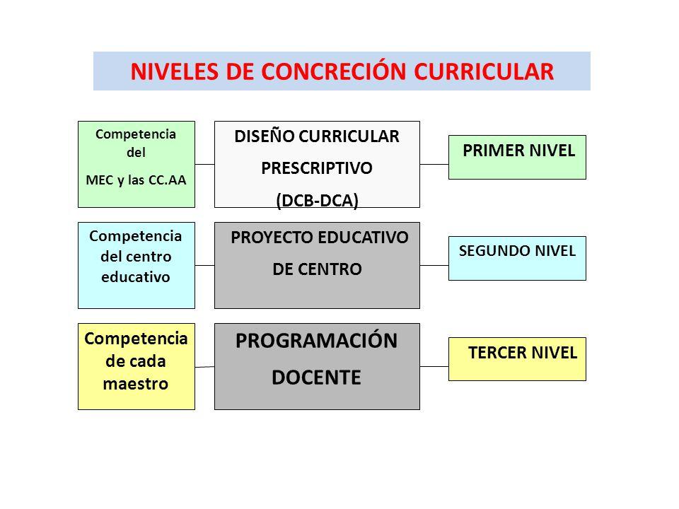 Primer nivel de concreci n curricular ppt descargar for Diseno curricular primaria