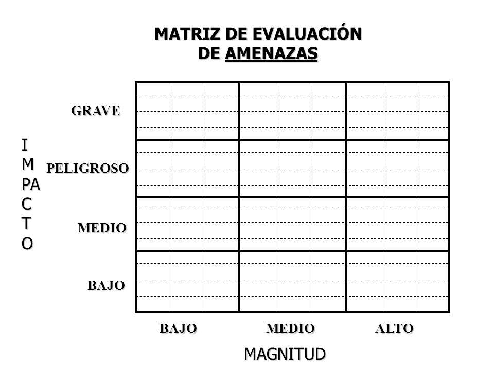 MATRIZ DE EVALUACIÓN DE AMENAZAS