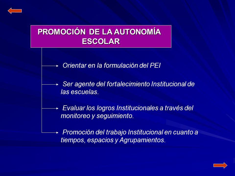 PROMOCIÓN DE LA AUTONOMÍA