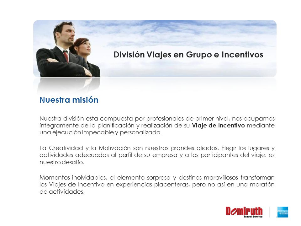 División Viajes en Grupo e Incentivos