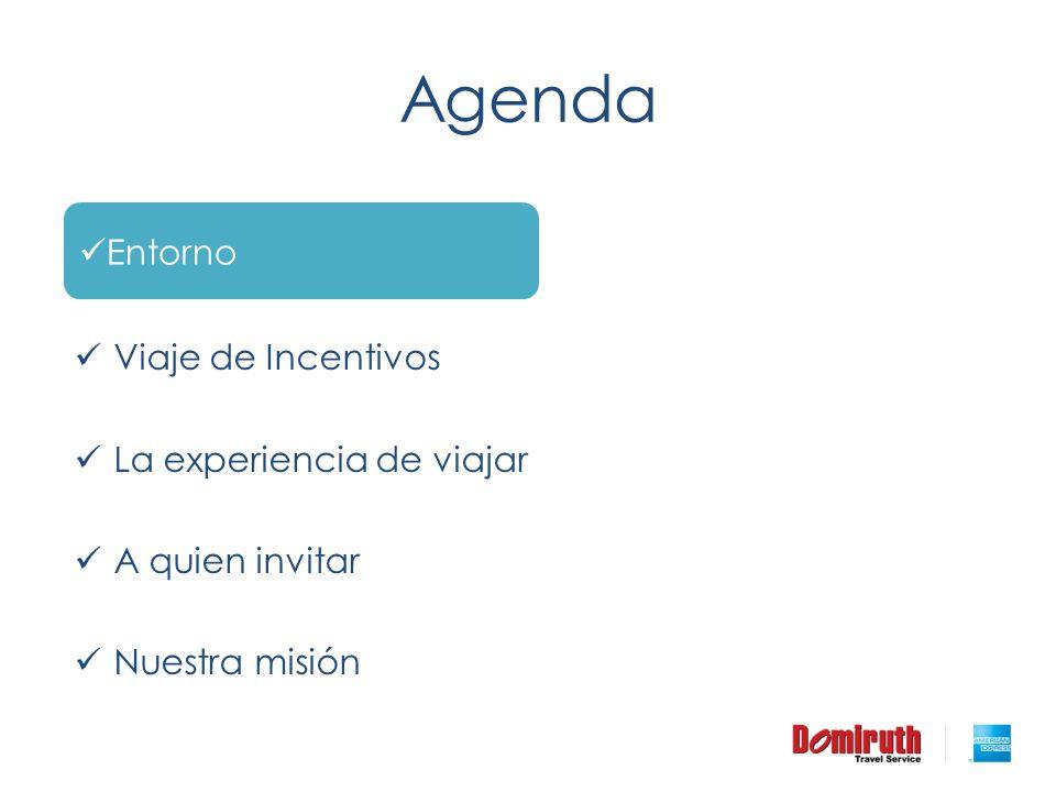 Agenda Entorno Antecedentes Viaje de Incentivos
