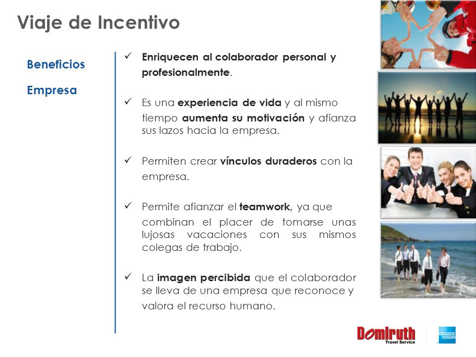 Viaje de Incentivo Beneficios Empresa