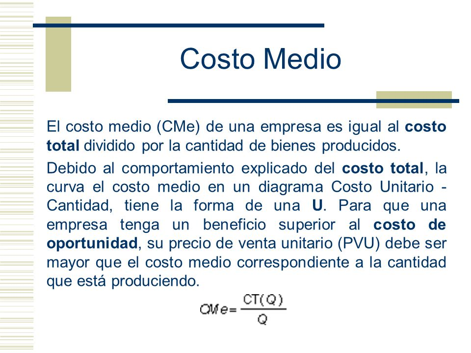 Costo medio a partir del costo marginal ppt video online - Costo medio costruzione casa ...