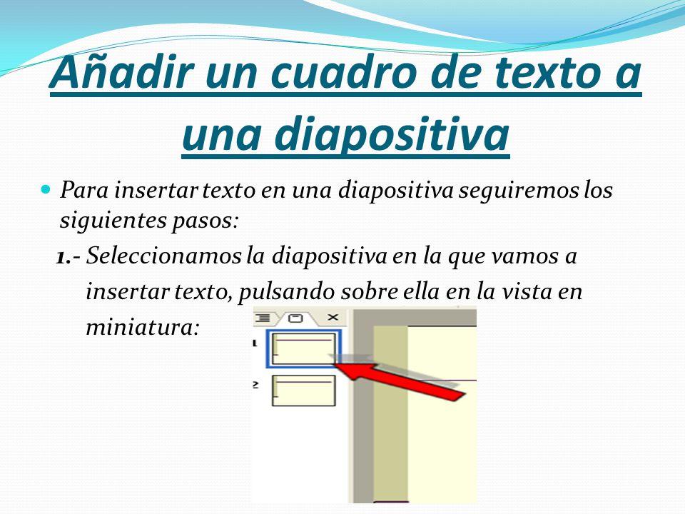 Añadir un cuadro de texto a una diapositiva