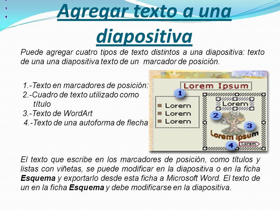 Agregar texto a una diapositiva