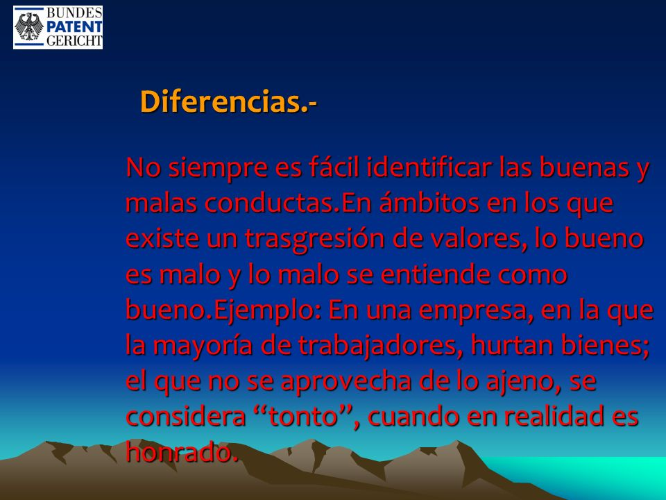Diferencias.-
