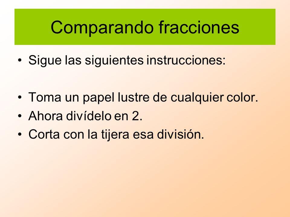 Comparando fracciones