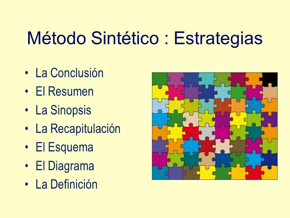 Método Sintético : Estrategias