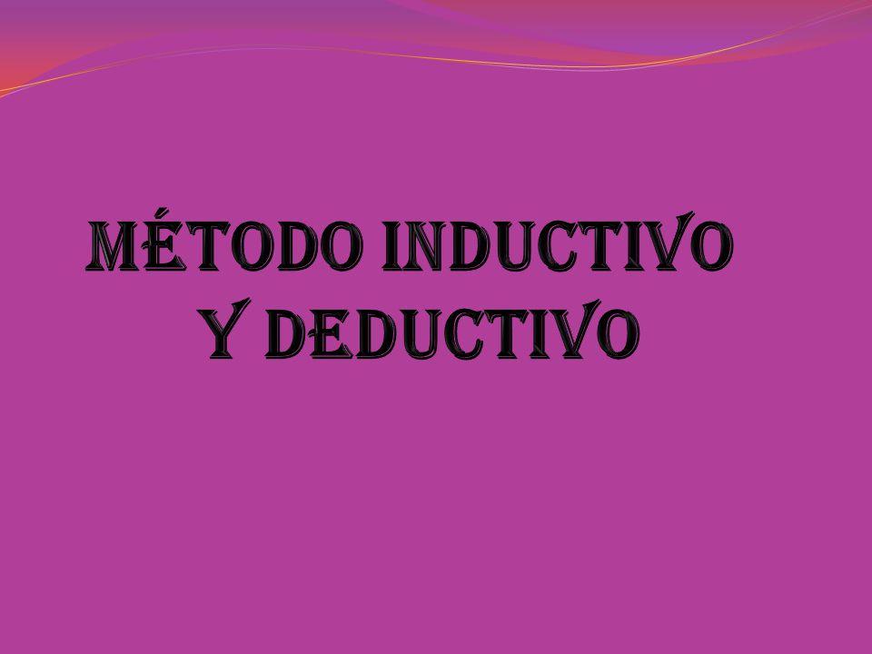 Método Inductivo y Deductivo