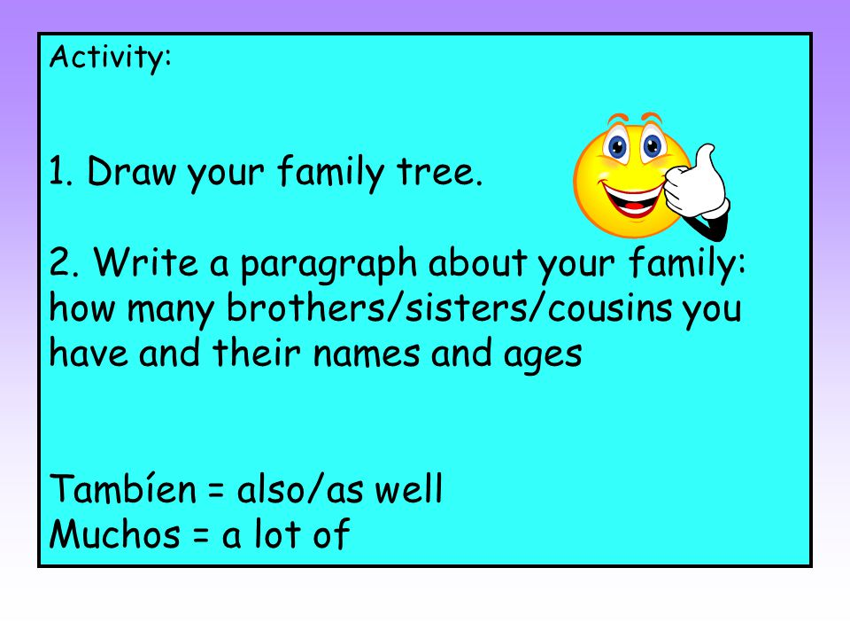 how to write a family tree