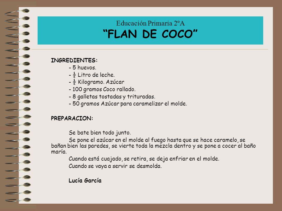 Cuaderno de recetas recopilaci n de recetas nacionales e - Como se hace el flan de huevo al bano maria ...