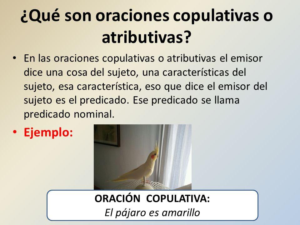 ¿Qué son oraciones copulativas o atributivas