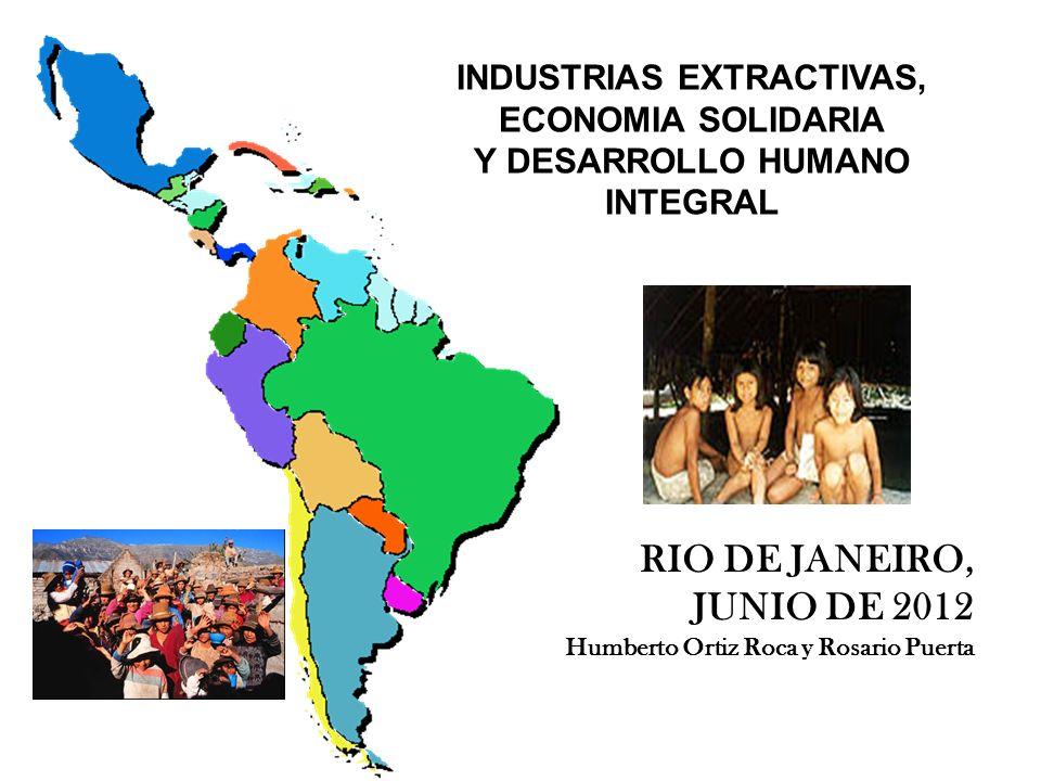 INDUSTRIAS EXTRACTIVAS, ECONOMIA SOLIDARIA