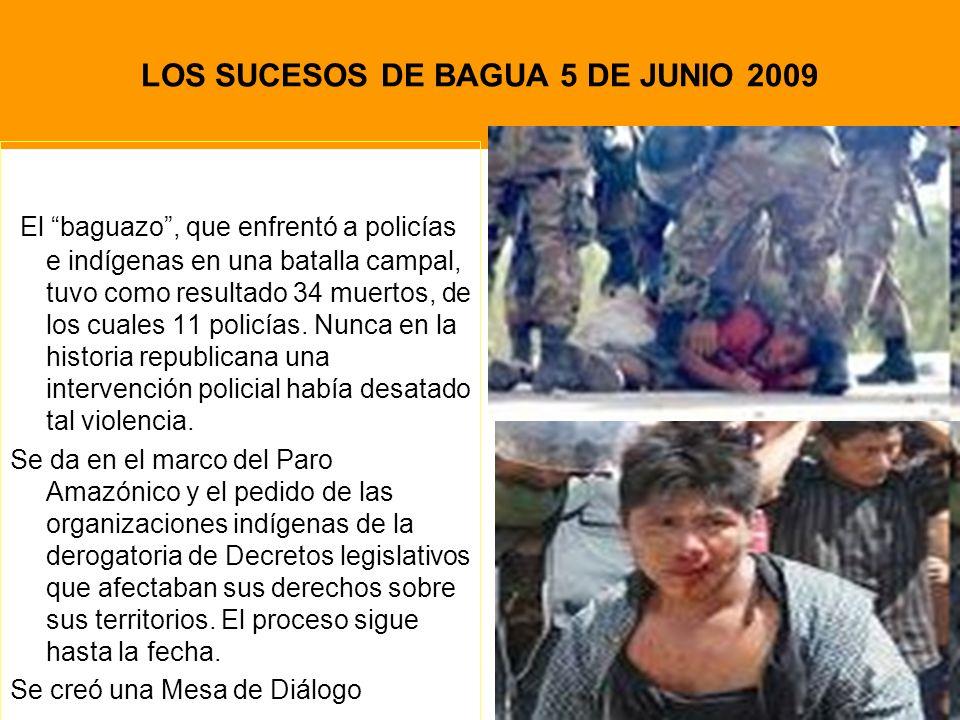 LOS SUCESOS DE BAGUA 5 DE JUNIO 2009