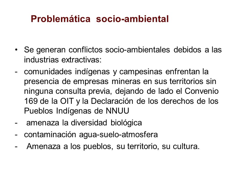 Problemática socio-ambiental