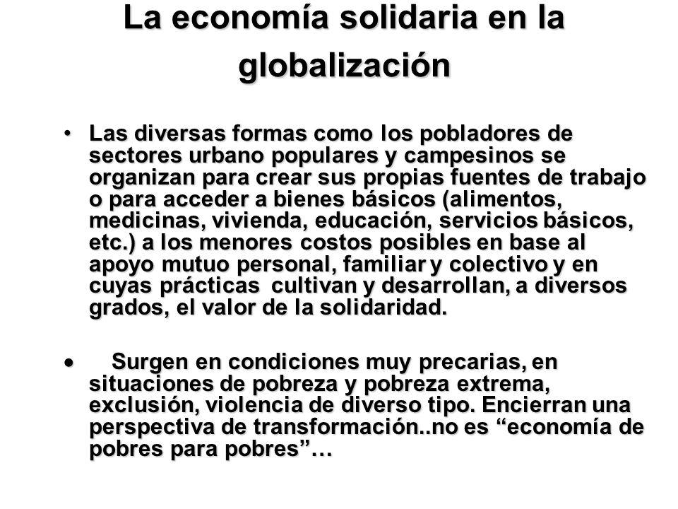La economía solidaria en la globalización