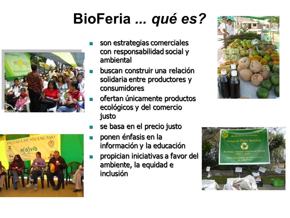BioFeria ... qué es son estrategias comerciales con responsabilidad social y ambiental.