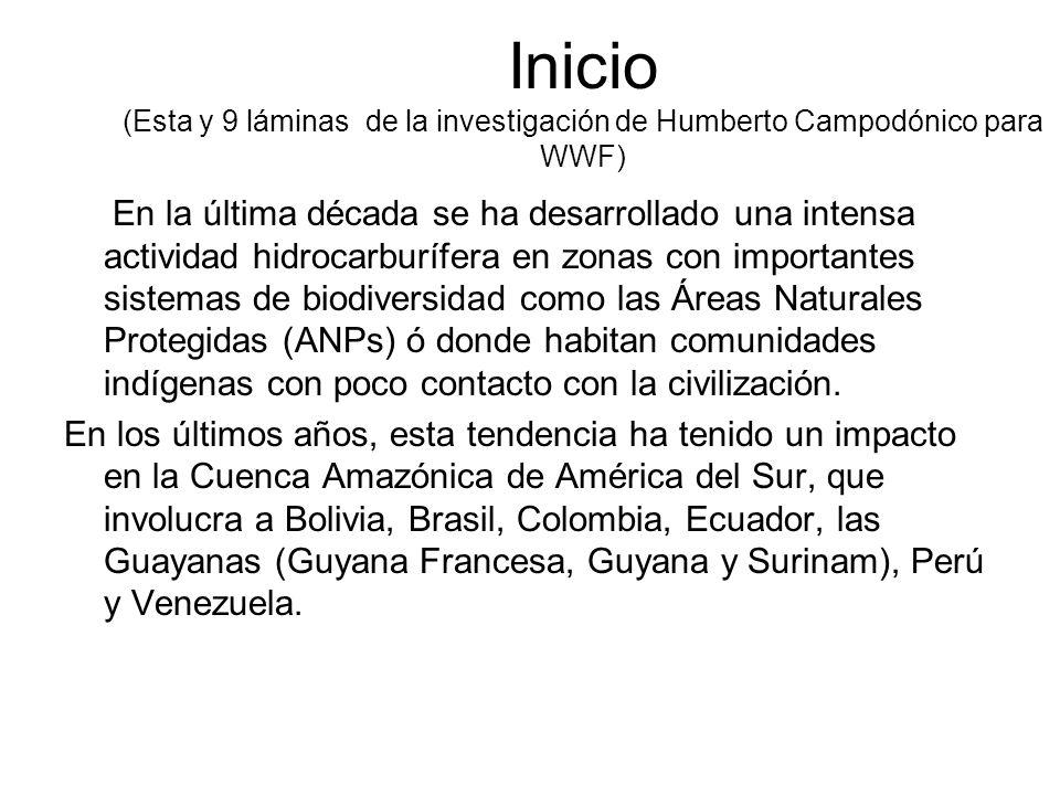 Inicio (Esta y 9 láminas de la investigación de Humberto Campodónico para WWF)