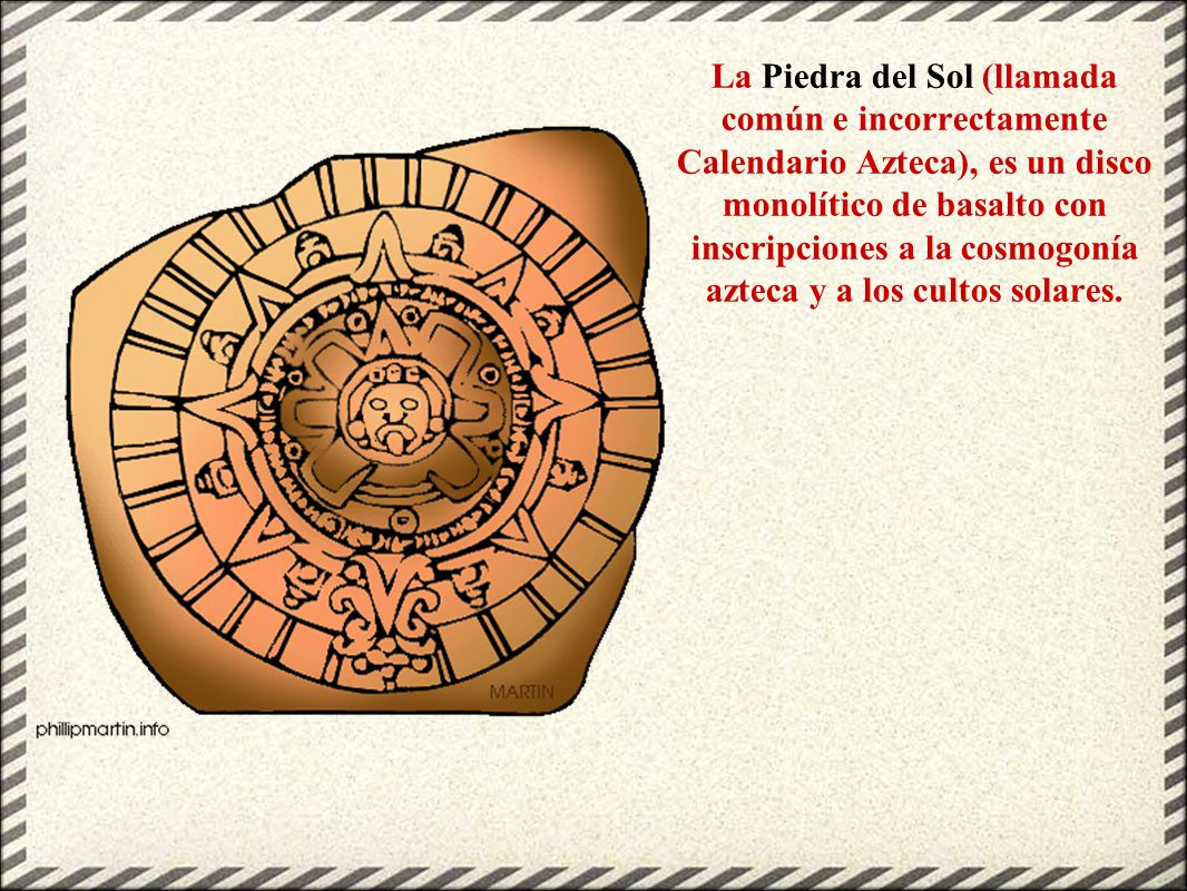 Historia para ni os 9 civilizaci n azteca ppt video for Del sol horario