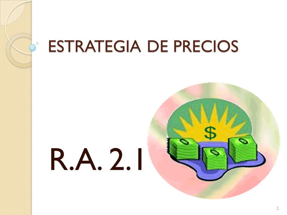 ESTRATEGIA DE PRECIOS R.A. 2.1