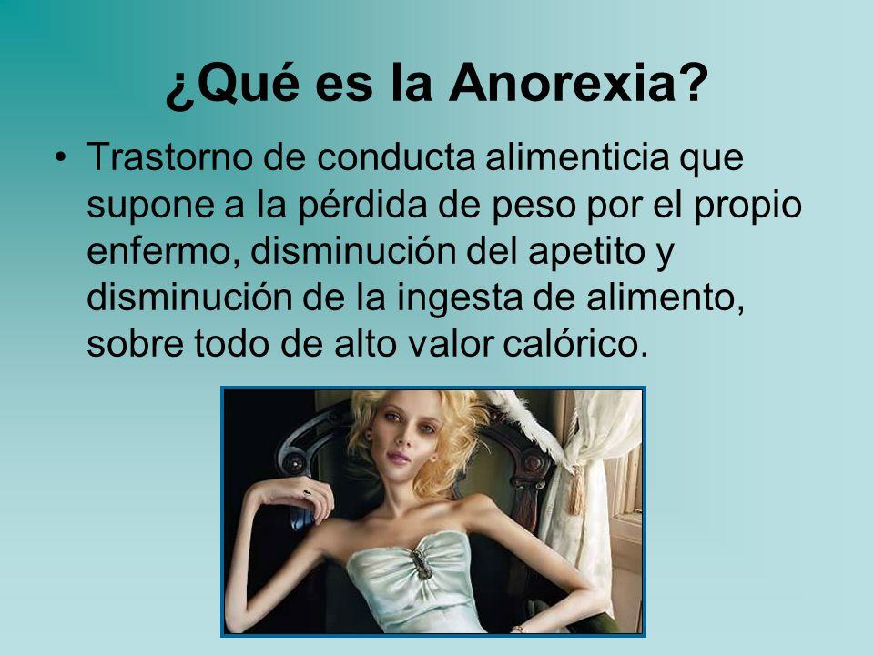 Anorexia Negación de apetecer. - ppt descargar
