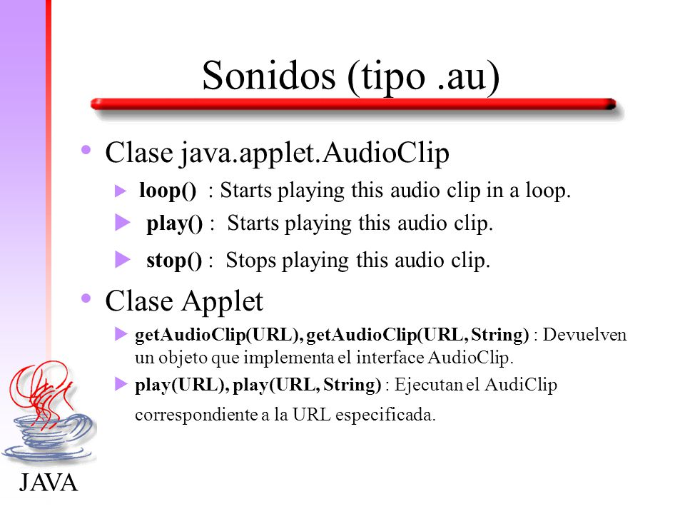 how to stop an audio clip in java