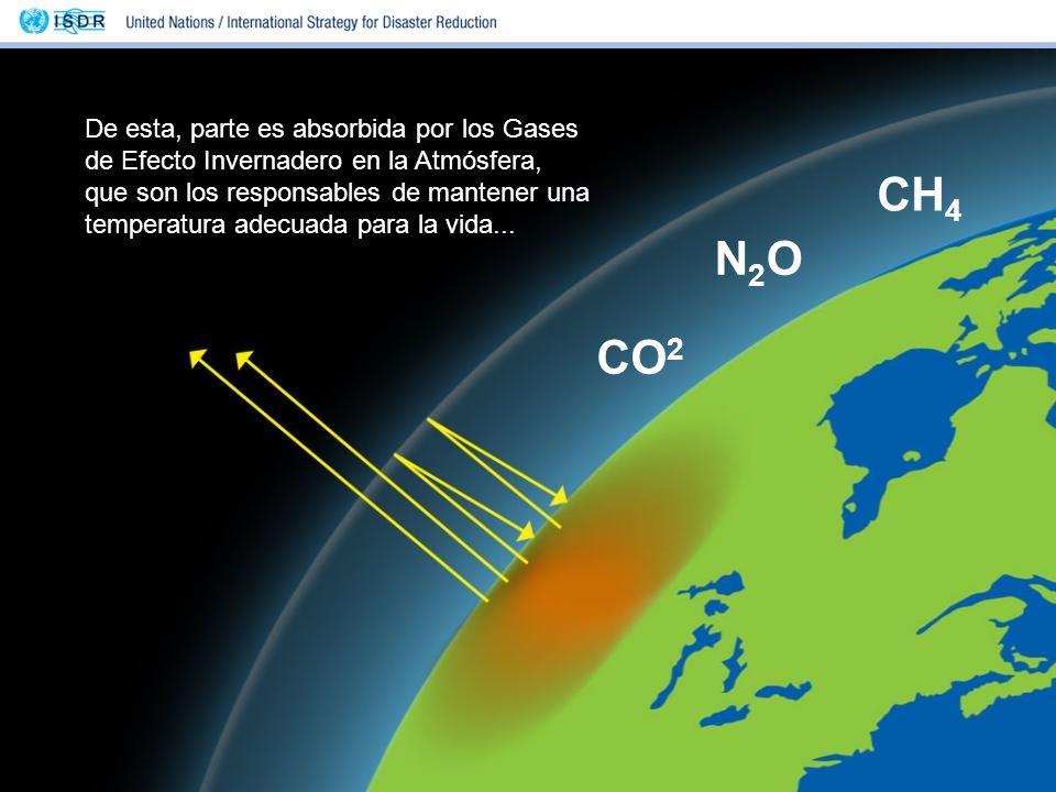 De esta, parte es absorbida por los Gases de Efecto Invernadero en la Atmósfera, que son los responsables de mantener una temperatura adecuada para la vida...