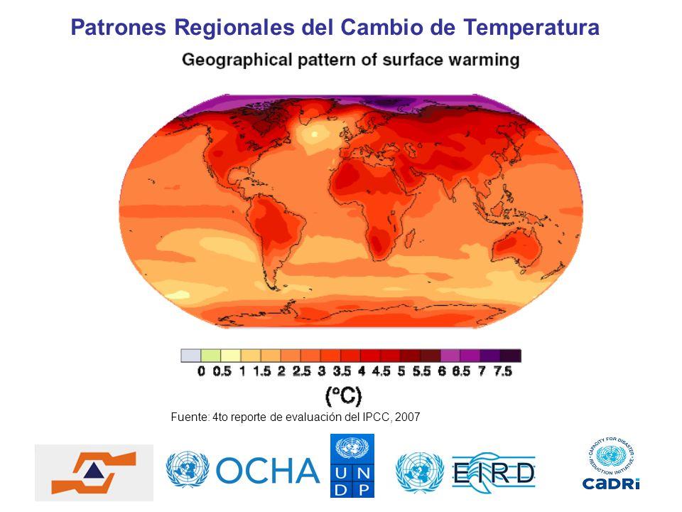 Patrones Regionales del Cambio de Temperatura