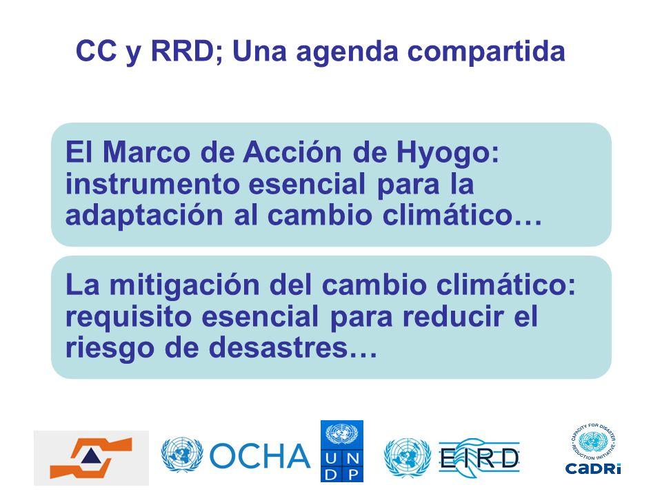 CC y RRD; Una agenda compartida