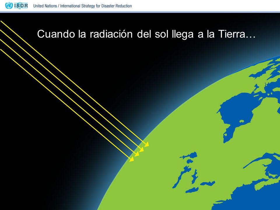 Cuando la radiación del sol llega a la Tierra…