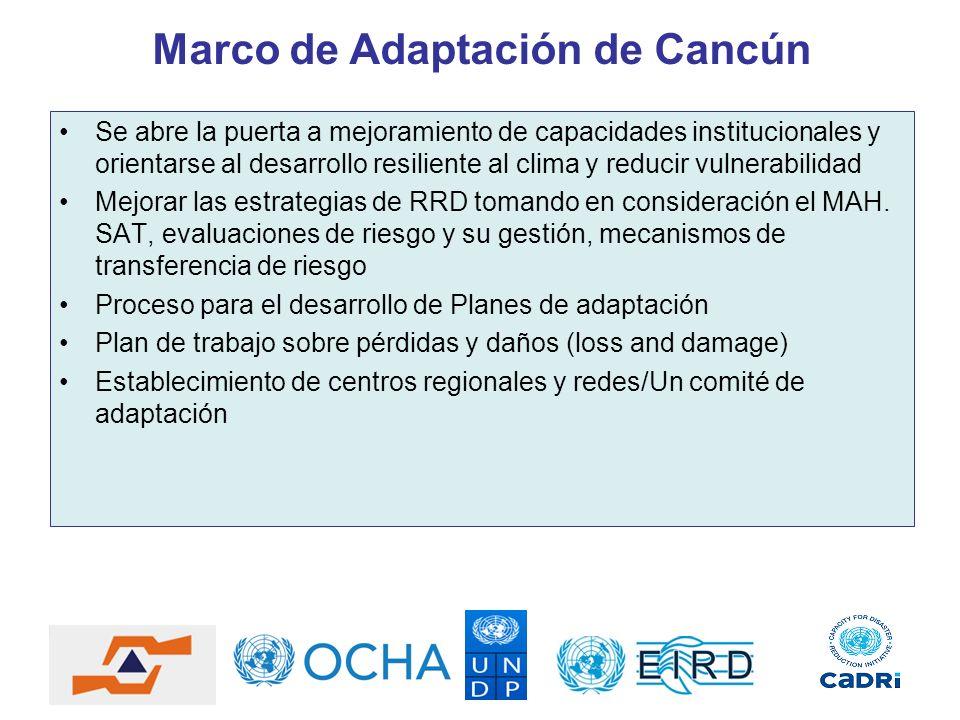 Marco de Adaptación de Cancún