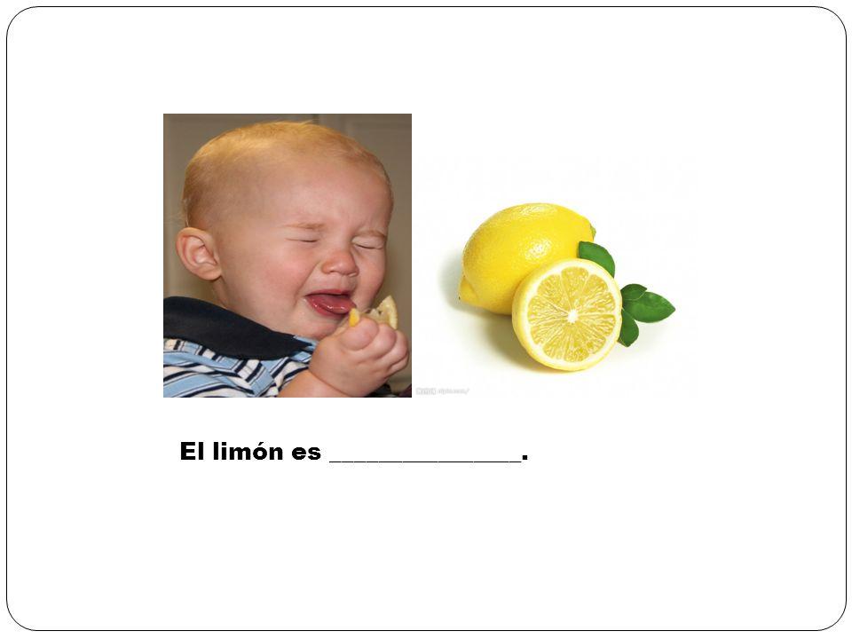 El limón es ________________.