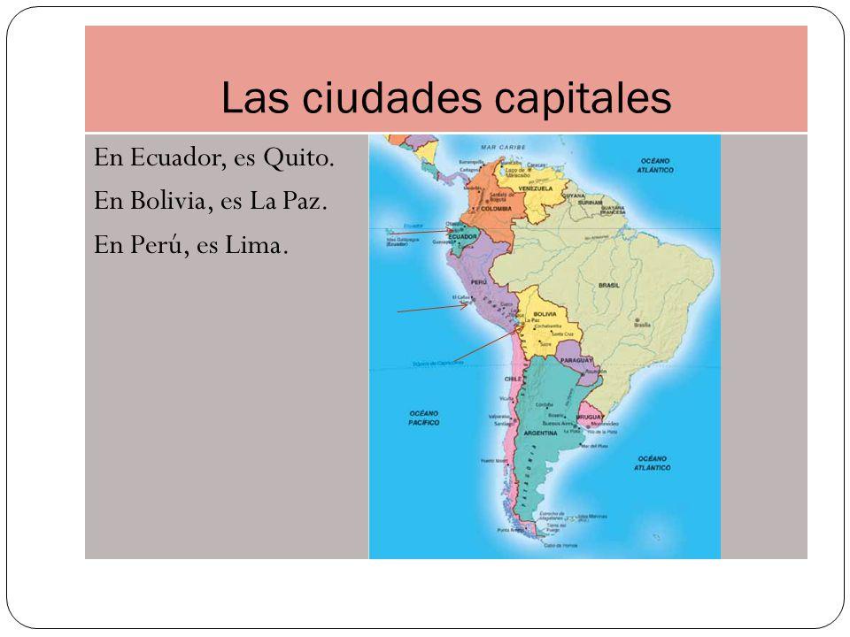 Las ciudades capitales