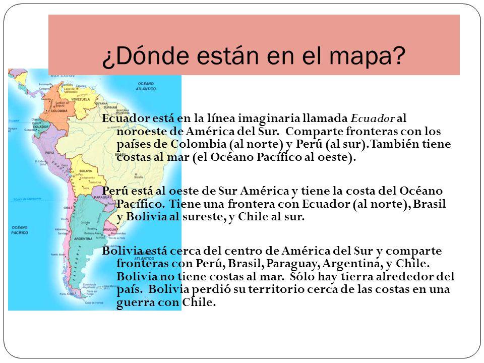 ¿Dónde están en el mapa