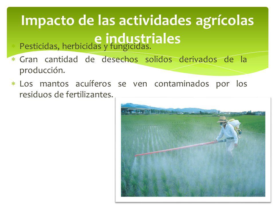 Impacto de las actividades agrícolas e industriales