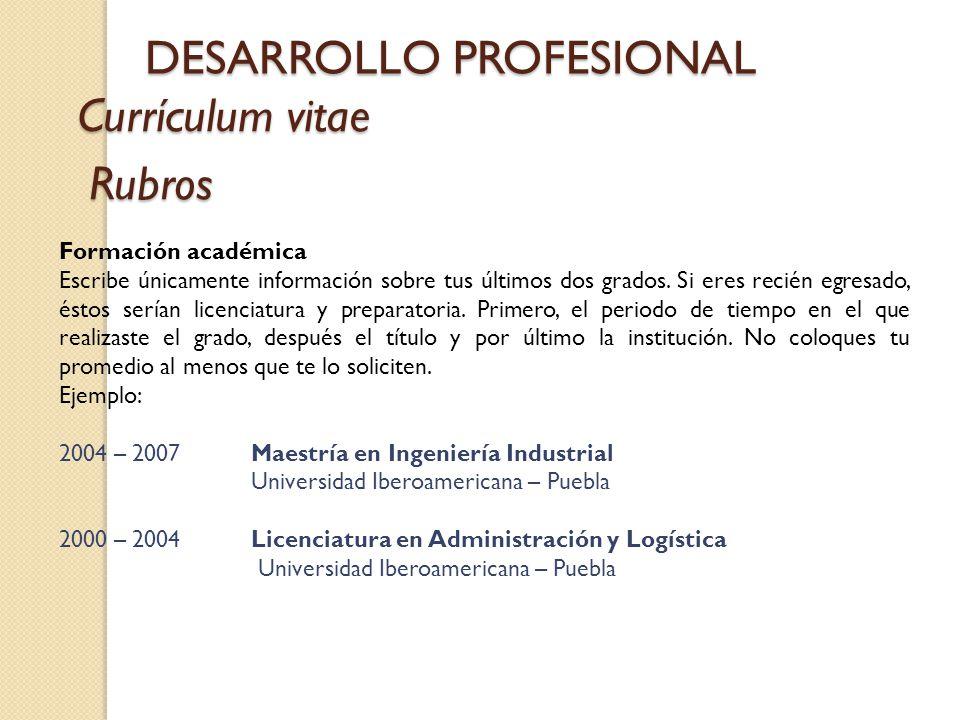 DESARROLLO PROFESIONAL - ppt descargar