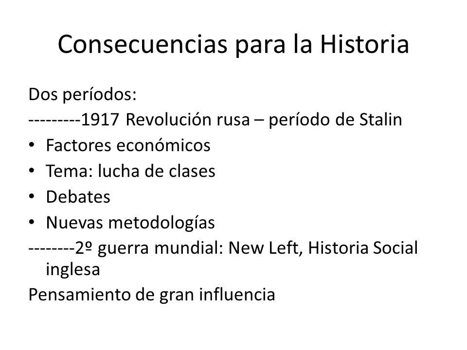 Consecuencias para la Historia