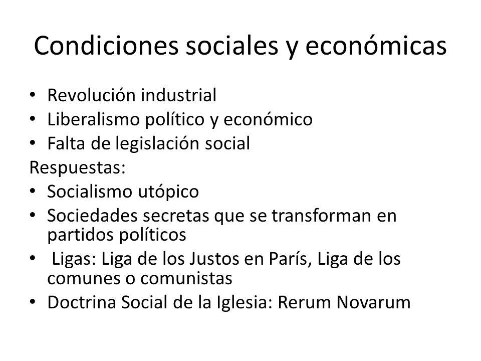 Condiciones sociales y económicas