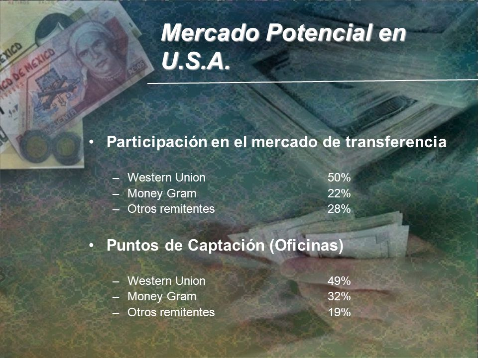 De remesas de dinero a m xico ppt descargar for Oficinas western union en barcelona