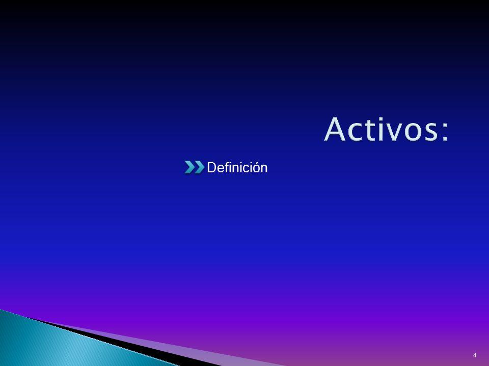 Activos: Definición