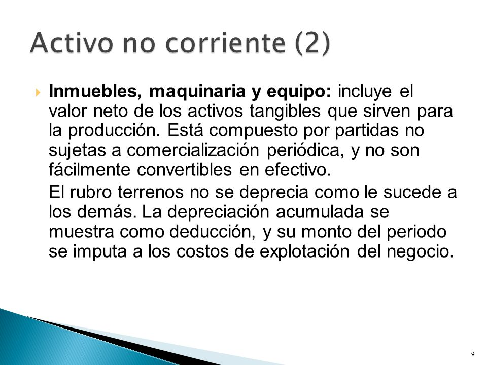 Activo no corriente (2)