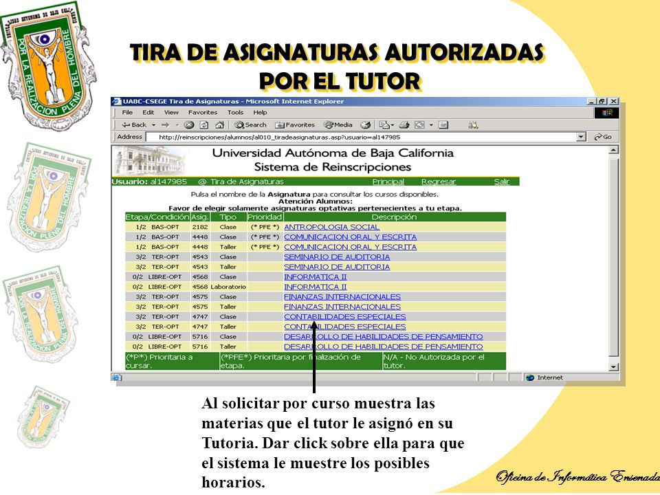 Introducci n oficina de inform tica ensenada ppt descargar for Envialia horario oficina