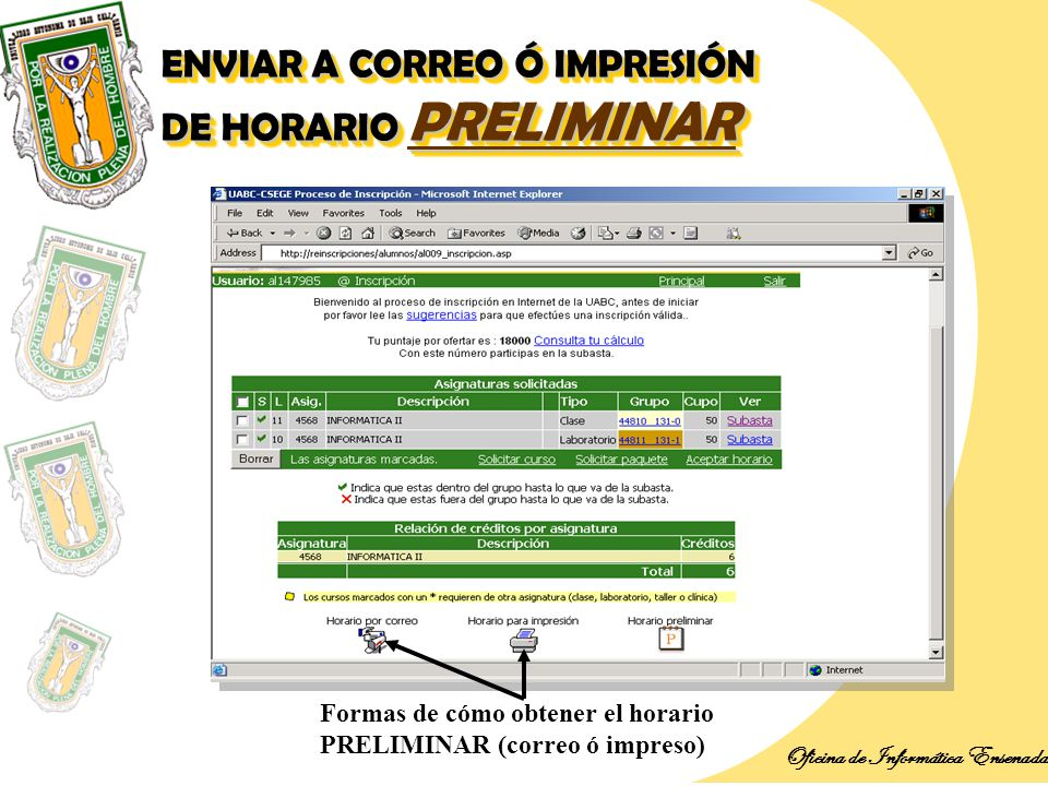 Introducci n oficina de inform tica ensenada ppt descargar for Horario de oficina correos