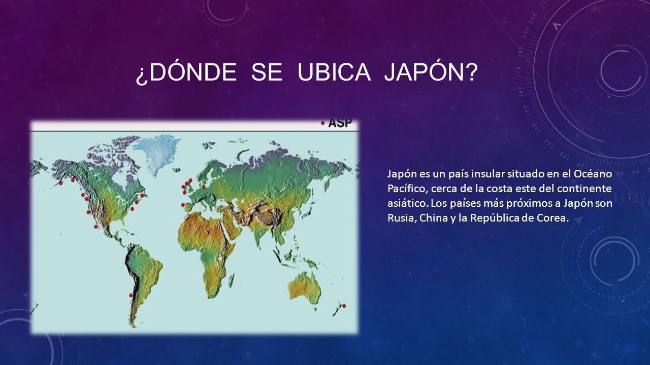 japn es un pas insular situado en el ocano pacfico cerca de la costa este del continente asitico los pases ms prximos a japn son rusia