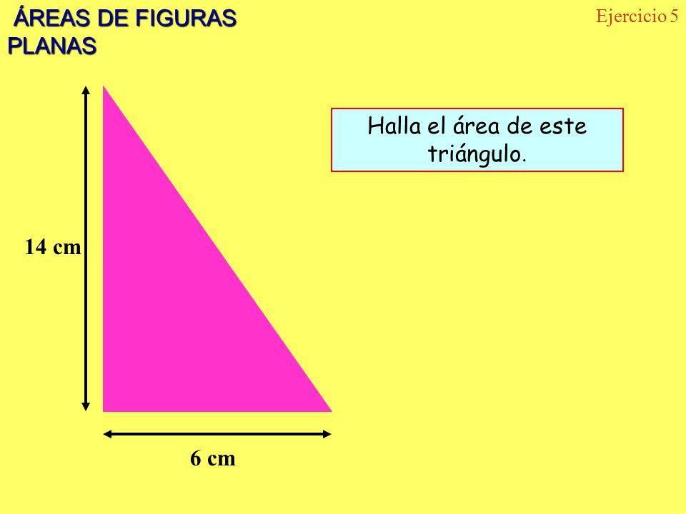 Halla el área de este triángulo.
