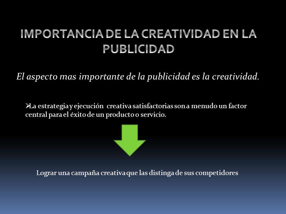 IMPORTANCIA DE LA CREATIVIDAD EN LA PUBLICIDAD